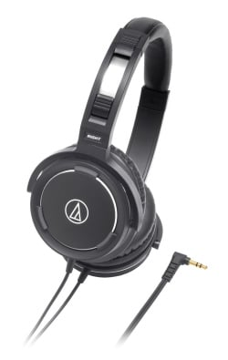 Headphones, Closed-Back, Dynamic, Black