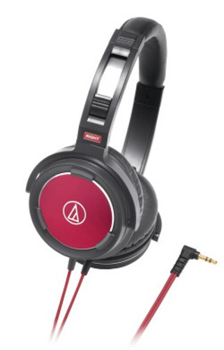 Headphones, Closed-Back, Dynamic,  Black & Red