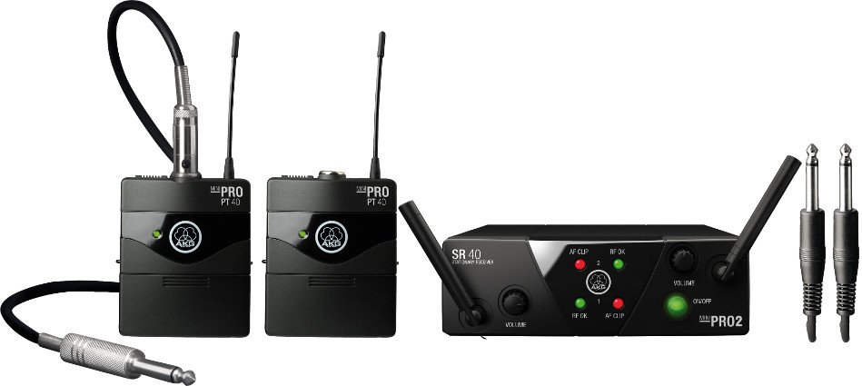 Dual Channel Wireless Instrument System with 2 Bodypack Transmitters