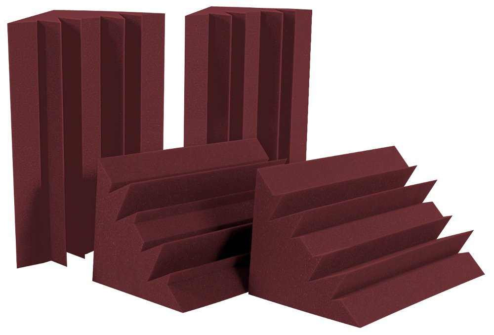 Auralex LENBUR-HP LENRD Bass Trap 4 Pack in Burgundy LENBUR-HP