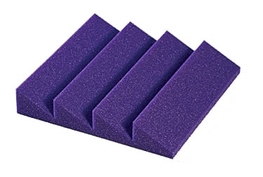 "2"" Designer Series Treatments, 1' x 1', 24pk, Charcoal (Purple shown)"