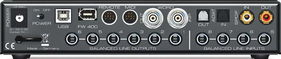 """9.5"""" 36-Channel FireWire/USB Audio Interface with RCQS Remote"""