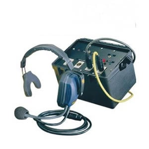 4 Person Intercom Headset, Double Power Souce, with Cables