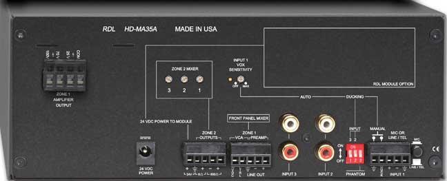 35 Watt, 4/8 Ohm Mixer Amplifier
