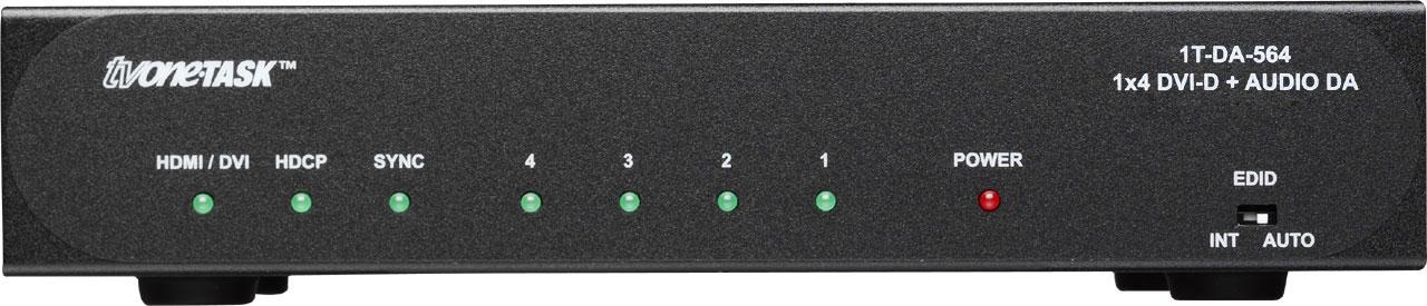 Amp 1x4 DVI-D w/Analog/SPDIF