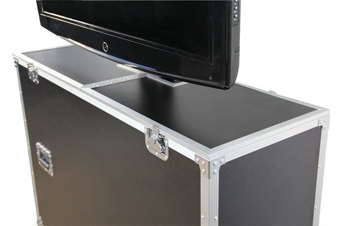 ATA Wood Case with Electric Lift & Casters, for LCD & Plasma screens