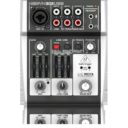 Mixer, 5-Input, USB/Audio Interfce