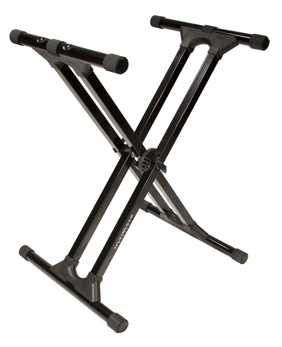 X-Style Keyboard Stand in Black with Patented Memory Lock