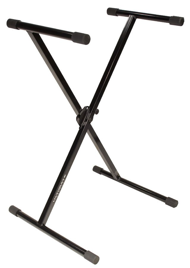 X-Style Single-Braced Keyboard Stand in Black with Patented Memory Lock System