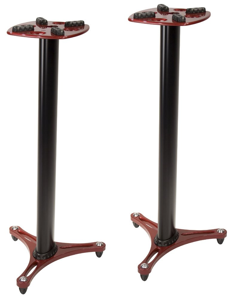 Columnar Monitor Stand, 1 pair, Red