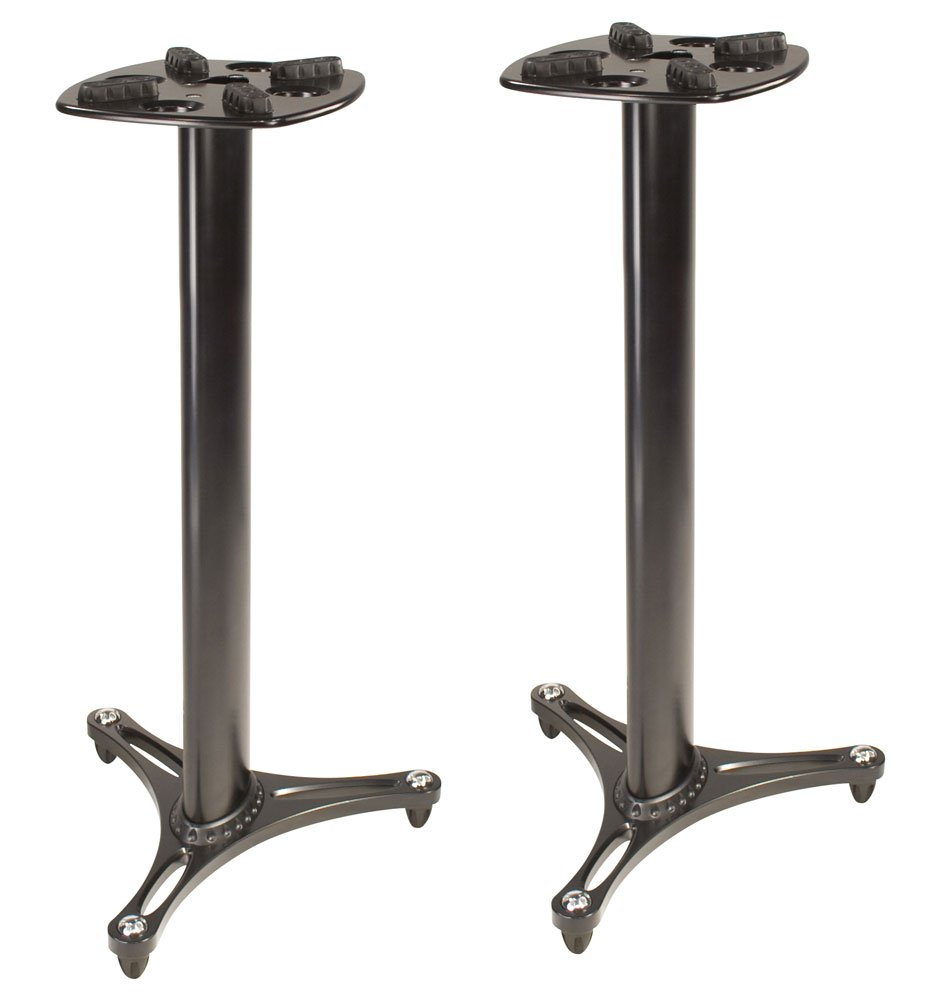 Columnar Monitor Stands, 1 Pair, Black