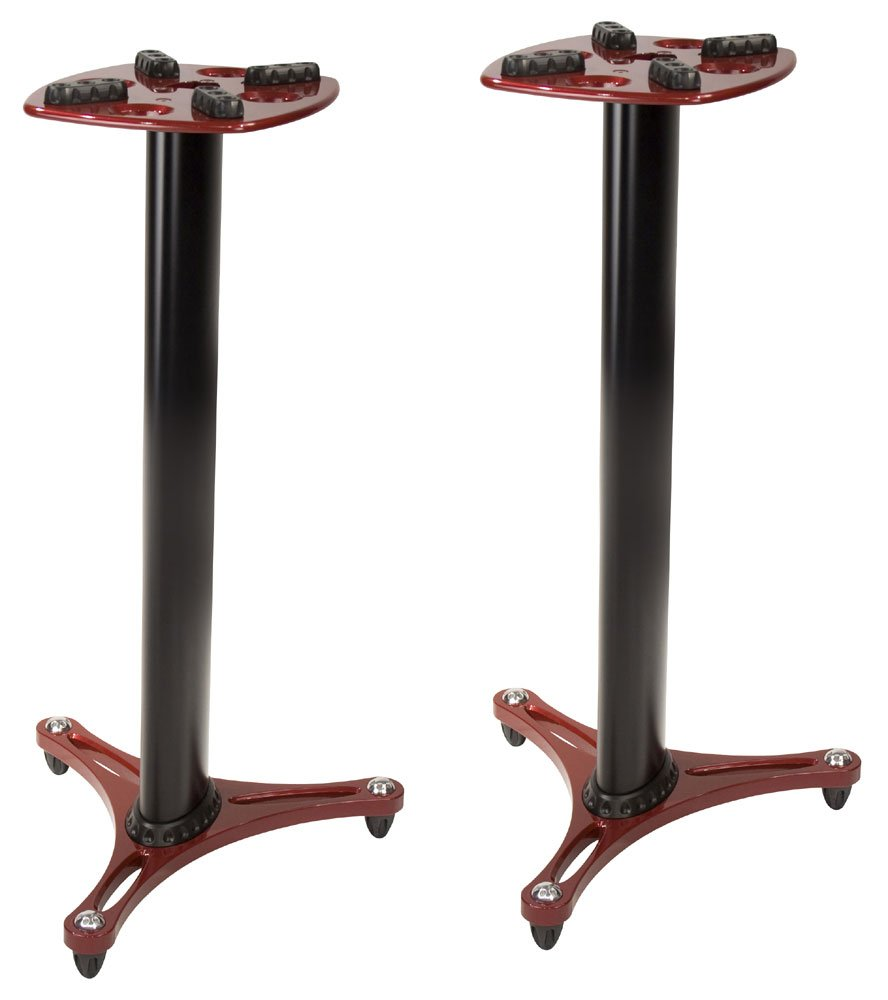 Columnar Monitor Stands, 1 Pair, Red