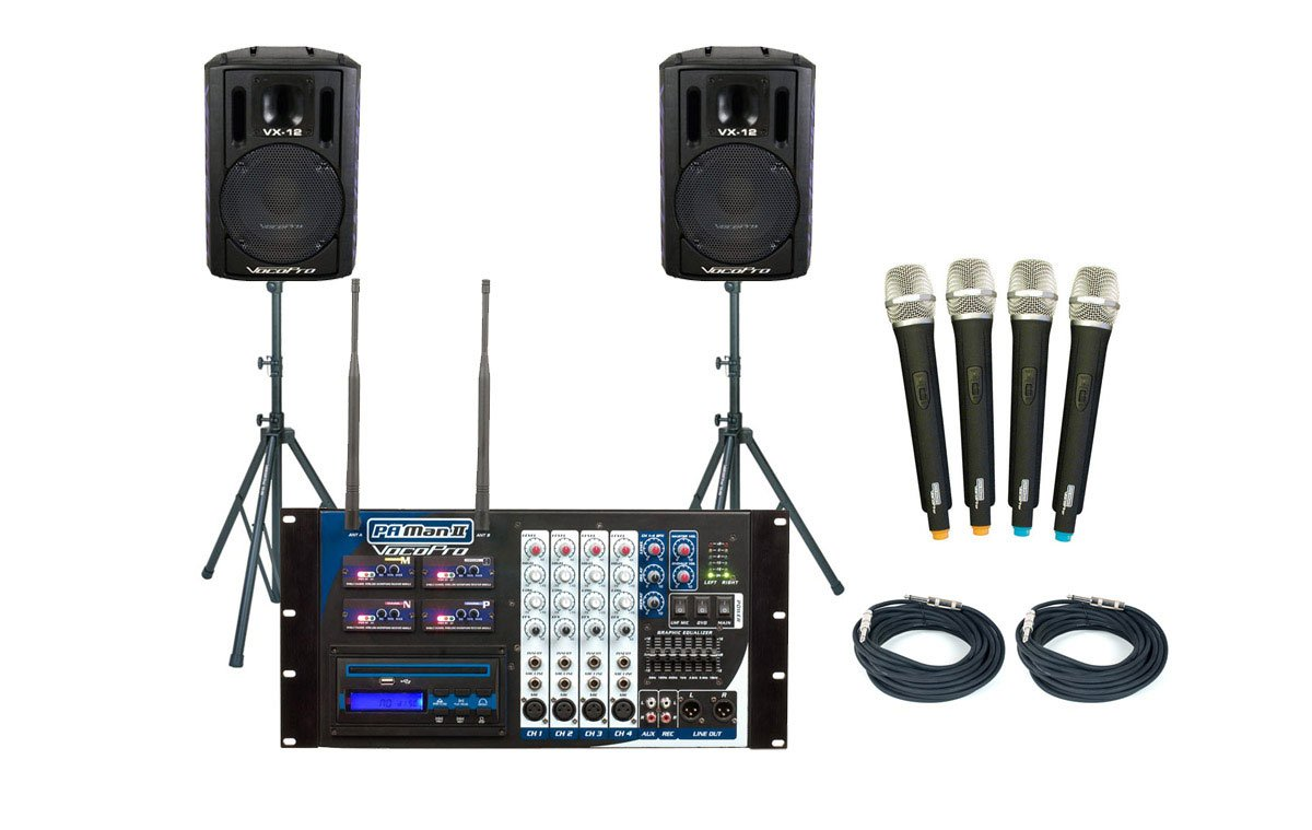 PA System, 4 Ch Wireless