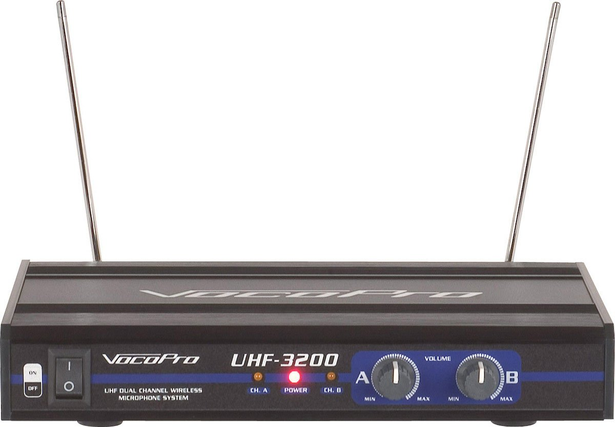 VocoPro UHF3200 Wireless Dual Channel Mic System UHF-3200