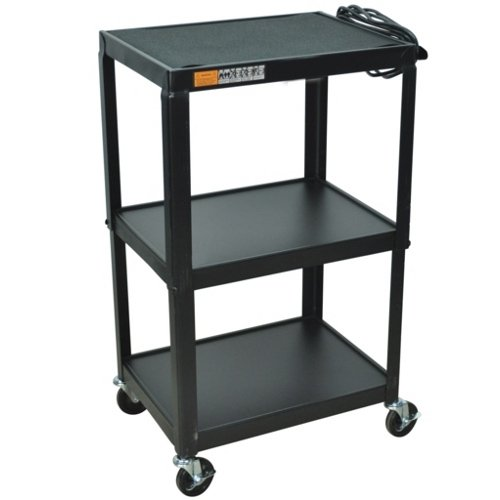 3-Shelf AV Cart with Casters