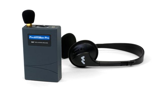 Pocket Talker Pro with the EAR 008 Wide Range Earphone