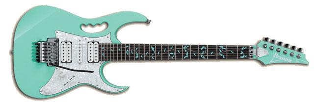 Steve Vai JEM Electric Guitar in Sea Foam Green Finish