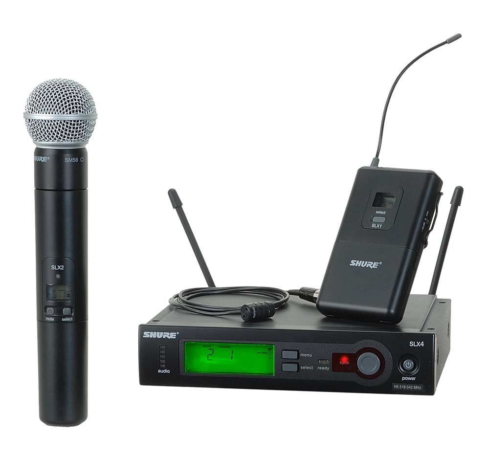 shure slx124 85 sm58 wireless diversity combo bodypack handheld microphone system with sm58. Black Bedroom Furniture Sets. Home Design Ideas
