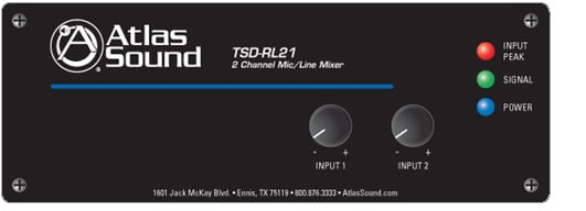 Mixer 2 Channel mic/line