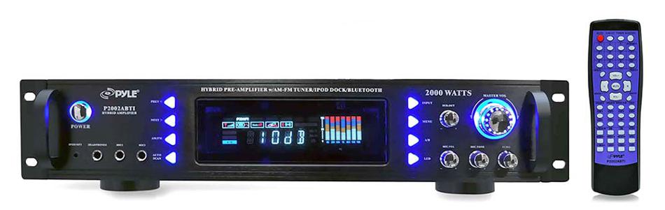 2000 Watt Hybrid Receiver/Preamplifier with iPod Dock, Bluetooth, AM/FM Tuner