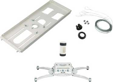 """Projector Mount, T-Bar Adapter, 4"""" NPT, & Quick-Lock Cable"""