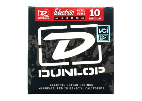 Dunlop Manufacturing 3PDEN1046 3 Pack of Medium Electric Guitar Strings 3PDEN1046