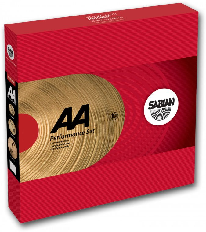 "AA Performance Series Cymbal Pack with 14"" Hi-Hats, 16"" Medium Crash, 18"" Medium Ride, No Bag"