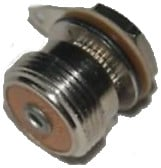 "Vintage Microphone Connector with 0.39"" Hole"