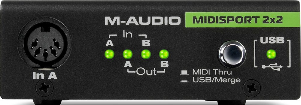 USB MIDI 2x2 Interface