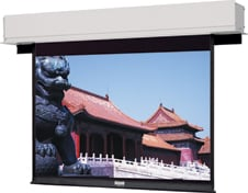 "72.5"" x 116"" Advantage Deluxe Electrol Matte White Projection Screen"