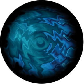 Aquatic Swirls Glass Abstract Color Gobo by Lisa Cuscuna