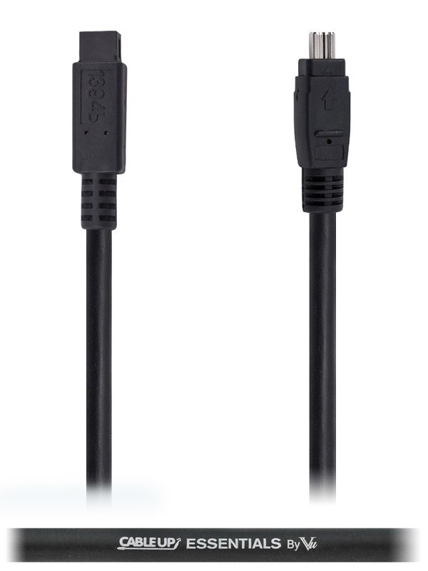 Cable Up by Vu FW9-FW4-6 6 ft 4-Pin to 9-Pin IEEE 1394 FireWire 400 to 800 Cable FW9-FW4-6