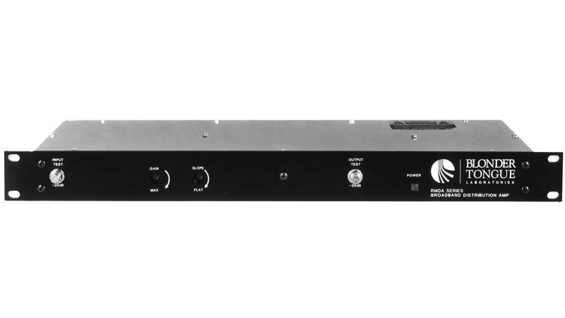 Rackmount Distribution Amplifier, 50dB, 47-550 MHz