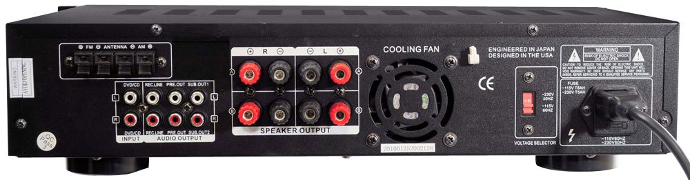 3000 Watt Hybrid Preamplifier with AM/FM Tuner & USB Port