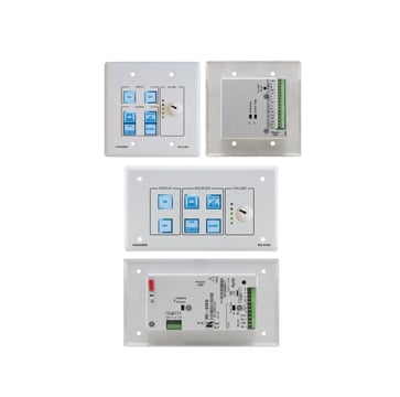 6-Button Room Controller with Digital Volume Knob & Printed Group Labels
