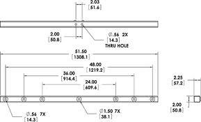 "PoleStar PM Series Dual Adapter, 48"", Galvanized Steel"