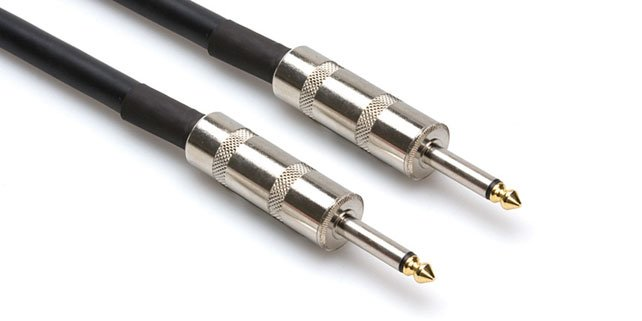 "Speaker Cable, 1/4"" to 1/4"", 14 AWG x 2, 25 Feet"