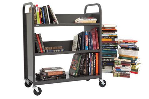 Book Truck, Three Slant Shelves