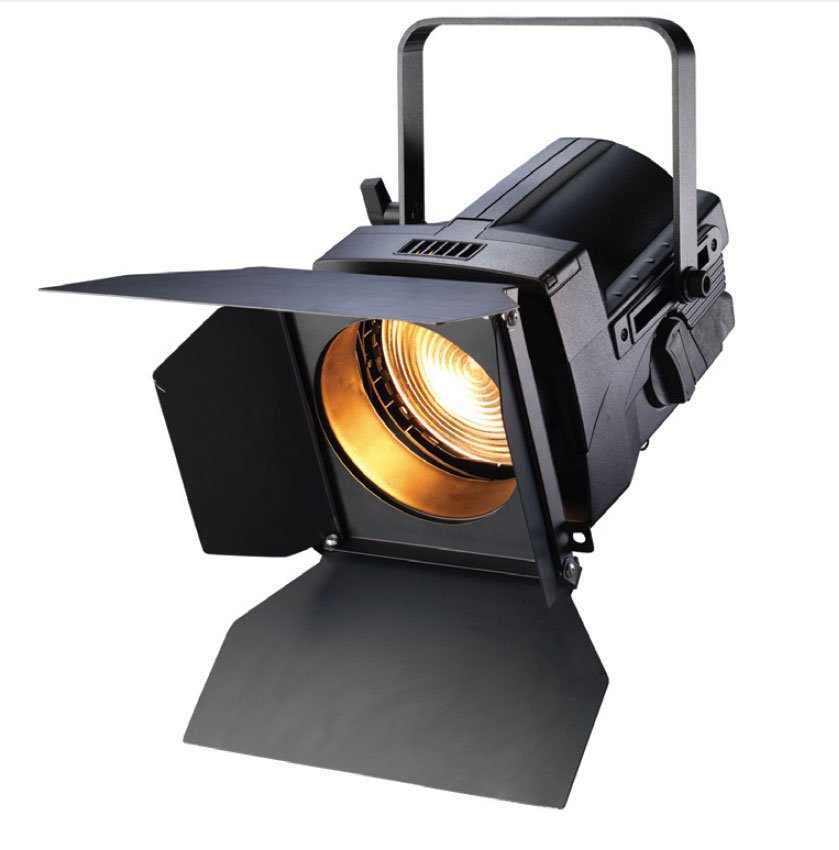 """Black 7"""" Source Four Fresnel with Twist-Lock Connector"""