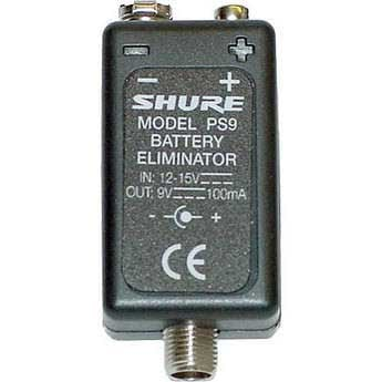 Shure PS9US Battery Eliminator, 9 volt PS9US