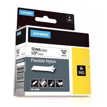 "1/2"" Industrial Flexible White Nylon Label Tape for Rhino Label Printers"