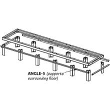 Middle Atlantic Products WANGLE-1 Raised-Floor Support Angles (1 Pair) WANGLE-1