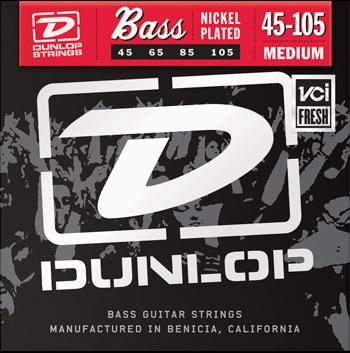2 Pack of Medium Nickel Electric Bass Strings