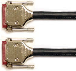 5 ft. DB25 to DB25 AES Format Crossover Cable (AES I/O to Digi or Tascam Pinout Machine)
