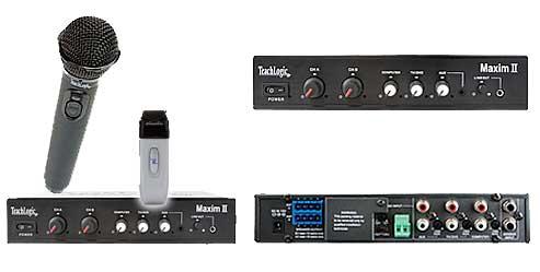 MAXIM II Sapphire System plus Hand Held thansmiter and  CS4 Speakers
