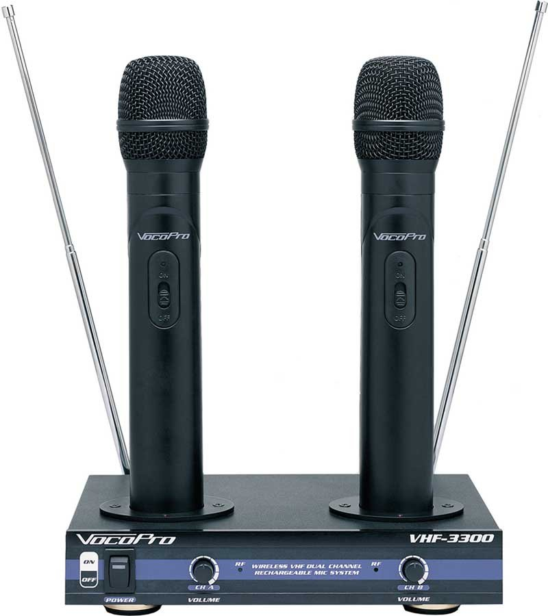 Dual Channel Wireless System, 2 Hand Held Mics