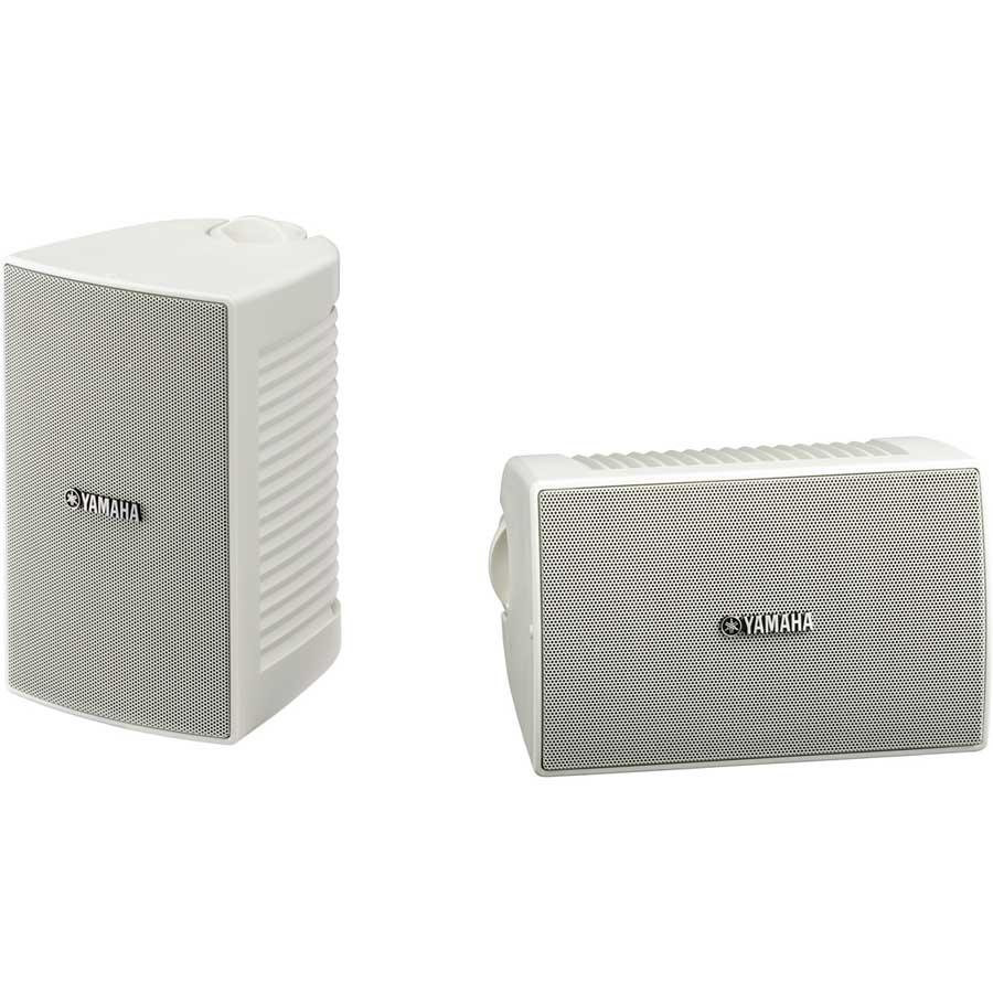 """Pair of 4"""" Weatherproof Installation Speakers in White"""