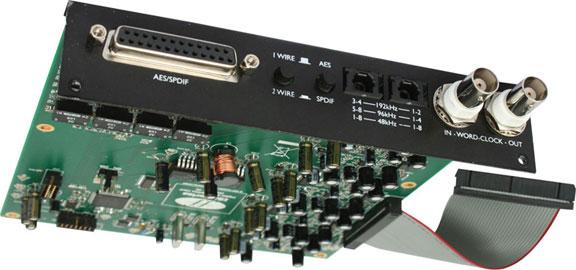 Optional 8 Channel, 24 bit, 192kHz ADC