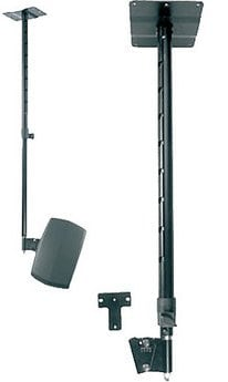 Adjustable heigh ceiling speaker mount, Black