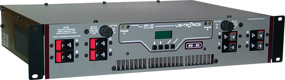 Lightronics Inc. RD-82 8-channel Rack Mount Dimmer RD-82